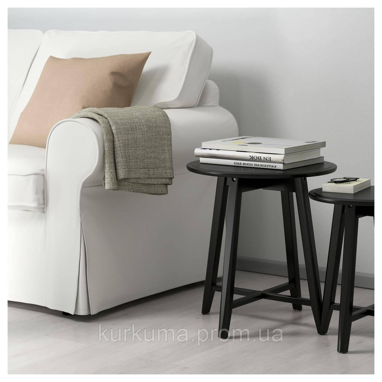 IKEA KRAGSTA Стол 2 шт., черный  (002.998.25)