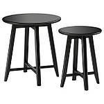 IKEA KRAGSTA Стол 2 шт., черный  (002.998.25), фото 2