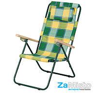 Кресло-шезлонг складное Vitan Ясень 20 мм (бязь, клетка Релакс)