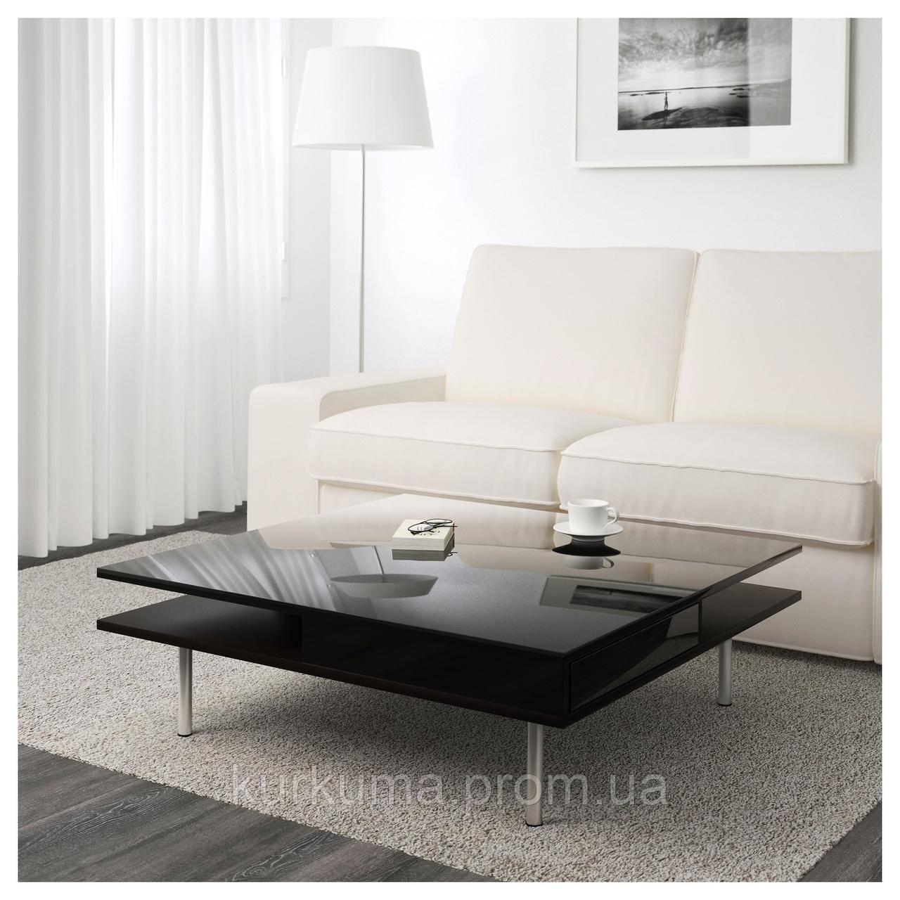 IKEA TOFTERYD Стол, глянцевый черный  (401.974.86)