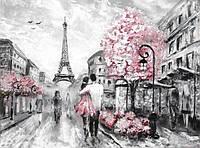"""3D фотообои """"Влюбленные в Париже"""""""
