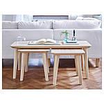 IKEA LISABO Стол, ясень шпон  (702.976.58), фото 8