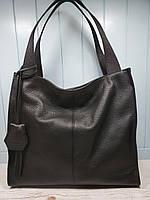 Женская итальянская кожаная сумка - шоппер