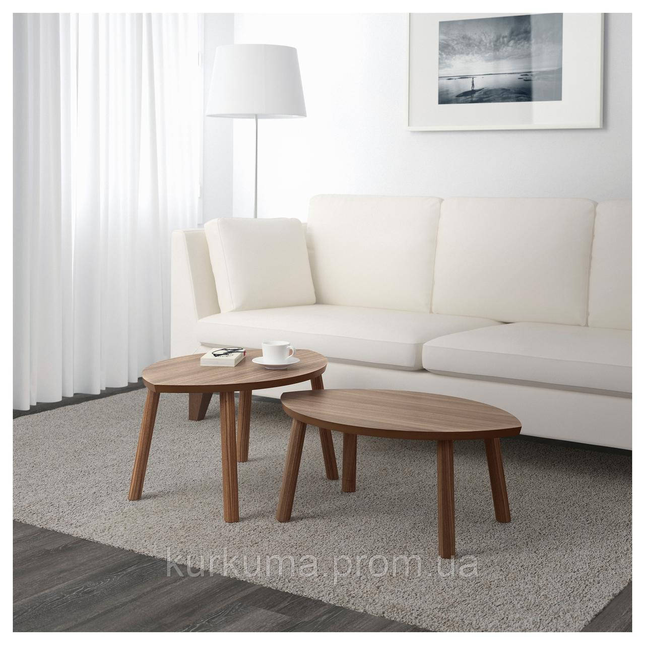 IKEA STOCKHOLM Стол 2 шт., шпон грецкого ореха  (102.397.13)
