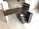 Маникюрный столик с УФ-лампой и полочками для лаков, фото 2