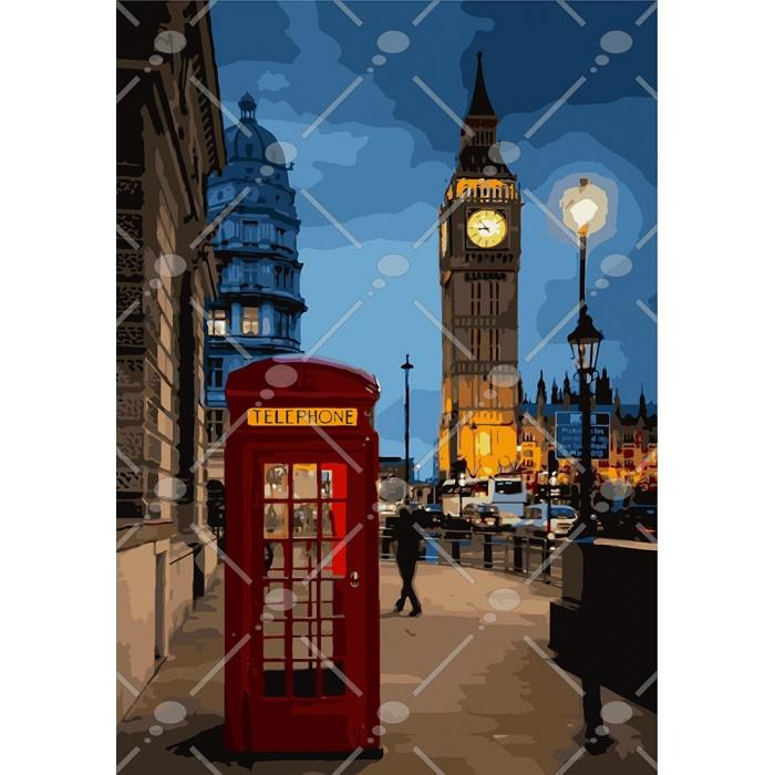 Картина по номерам Идейка - Вечерний Лондон-2 35x50 см (КНО3546)