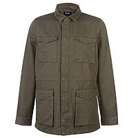 Мужская легкая хлопковая куртка рубашка хаки Firetrap Military Jacket Mens
