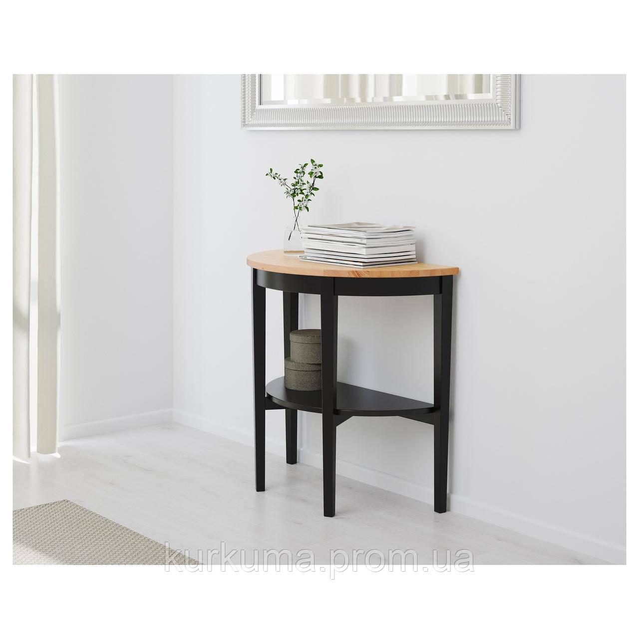 IKEA ARKELSTORP Стол пристенный, черный  (902.785.88)