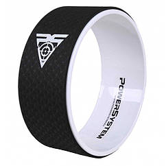 Йога колесо для фитнеса и аэробики Power System Yoga Wheel Pro PS-4085 Black-White - 145580