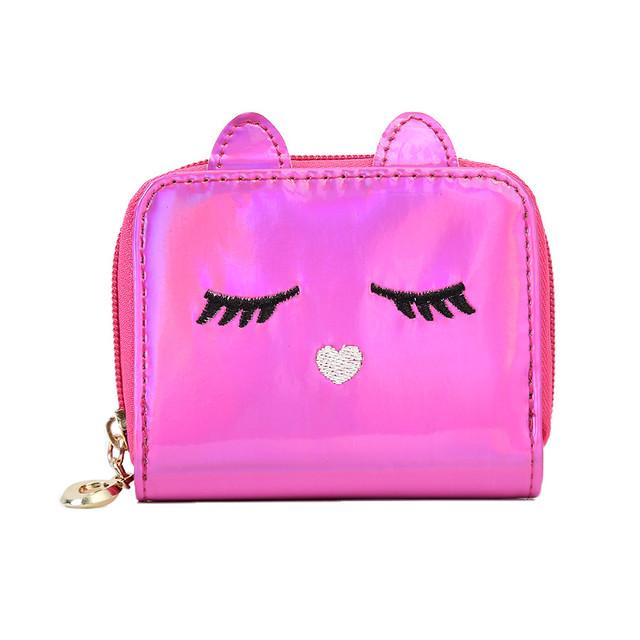 Голограммный кошелёк детский розовый
