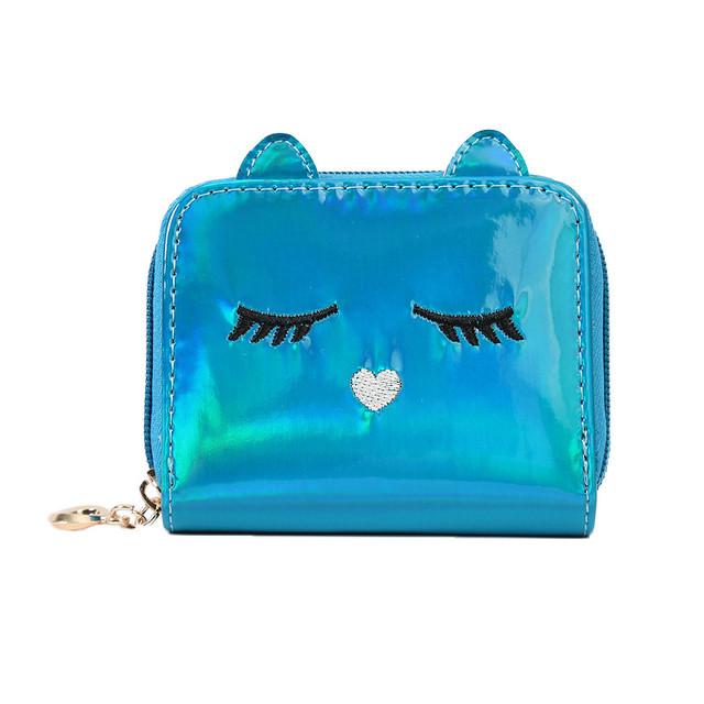 Голограммный кошелёк детский синий
