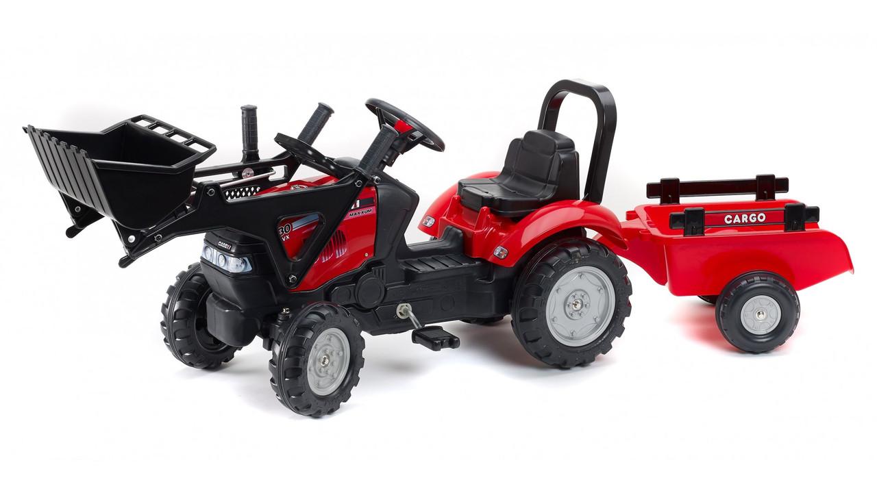 Детский трактор на педалях с прицепом Case ih maxxum FALK 961AM
