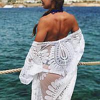 Пляжная туника белая