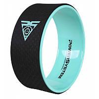 Йога колесо для фитнеса и аэробики Power System Yoga Wheel Pro PS-4085 Black-Green - 145149