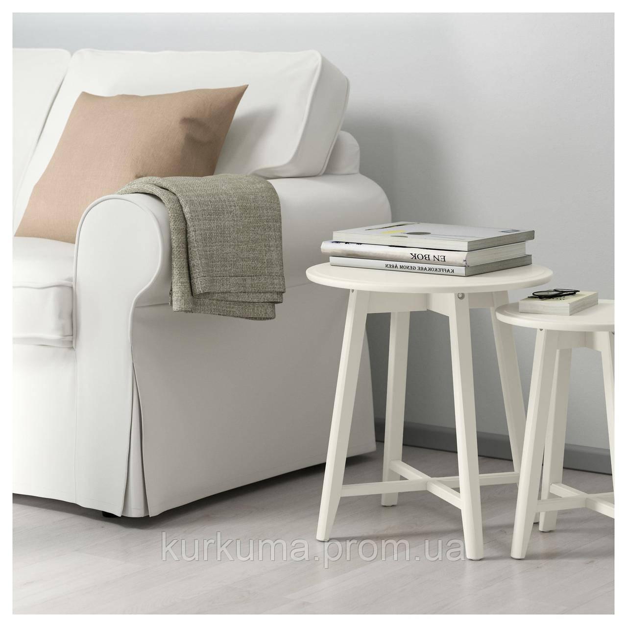 IKEA KRAGSTA Стол 2 шт., белый  (202.998.29)