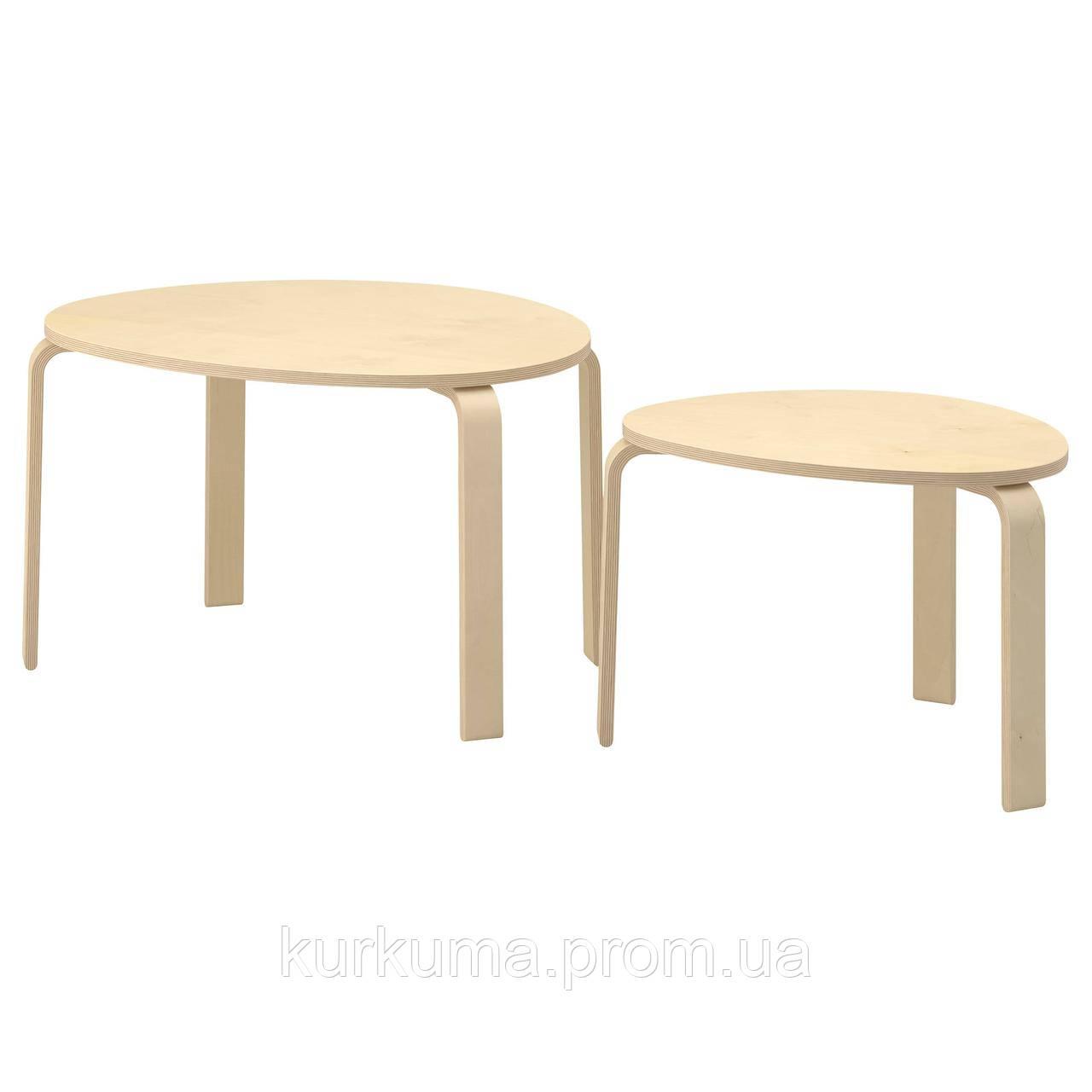 IKEA SVALSTA Стол 2 шт., березовый шпон  (802.806.76)