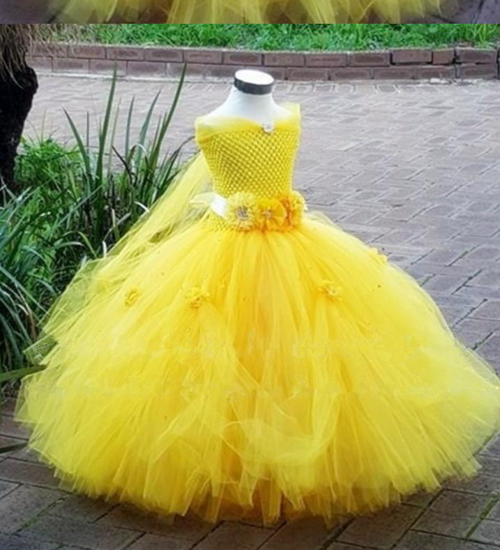 Платье жолтое розами пышное бальное выпускное длинное в пол нарядное для девочки в садик или школу