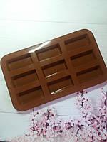 Ботончик 9 прямоугоньников силиконовая форма  для выпечки, фото 1