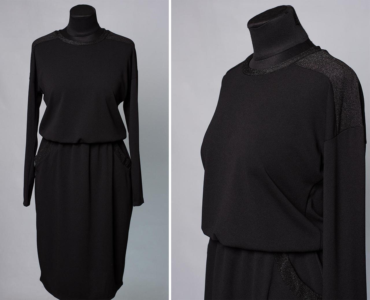 """Шикарное женское платье со вставки из люрексной нити ткань """"Креп-Дайвинг"""" 48, 50, 52, 54 размер батал"""
