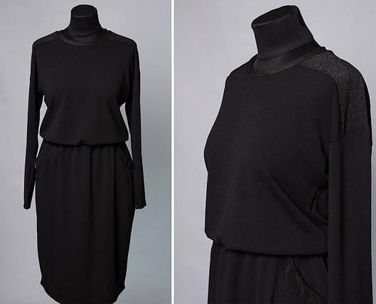 """Шикарное женское платье со вставки из люрексной нити ткань """"Креп-Дайвинг"""" 48, 50, 52, 54 размер батал, фото 2"""