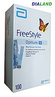Тест-полоски ФриСтайл Оптиум (FreeStyle Optium) 100 штук
