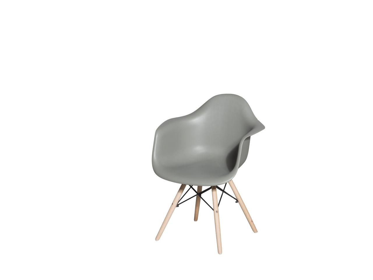 Пластиковое кресло DS-928 Mondi (Монди) Kashtan серый с ножками из бука