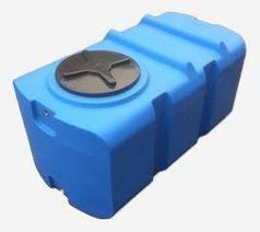 Бак, бочка, емкость 400 литров пищевая прямоугольная, крышка d 35 см SК