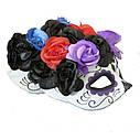 Полу маска пластик День мертвых  (3 цвета), фото 2