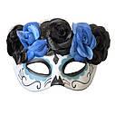 Полу маска пластик День мертвых  (3 цвета), фото 3
