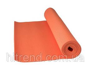 Коврик для йоги и фитнеса Power System PS-4014 FITNESS-YOGA Mat Orange - 145262