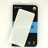 """Защитное стекло Mocolo 5D для Huawei Y6 Prime 2018 5.7"""" полноэкранное белое"""