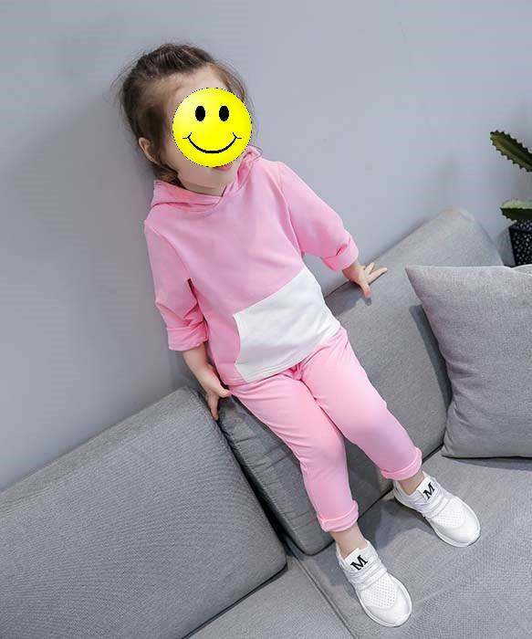 """Детский спортивный костюм для девочки с капюшоном """"Kids Fashion"""" в розовом цвете"""