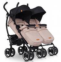 Детская прогулочная коляска-трость для двойни EasyGo Duo Comfort