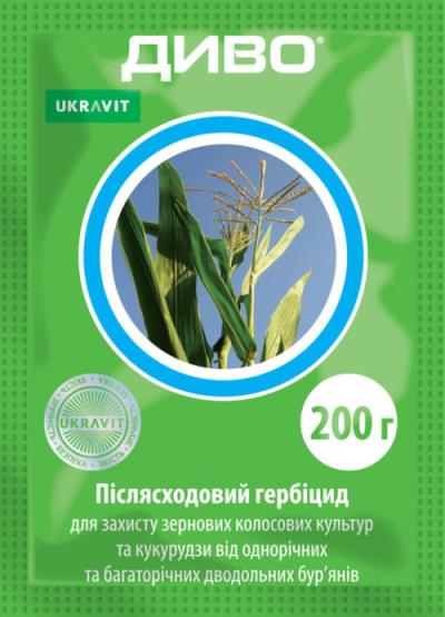 Гербицид Диво 200 грамм, системного действия от сорняков, Ukravit