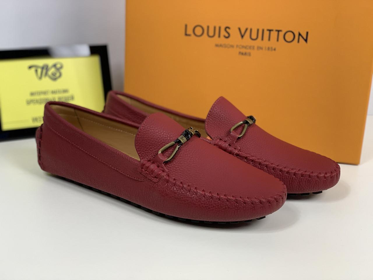 Мужские кожаные мокасины Louis Vuitton