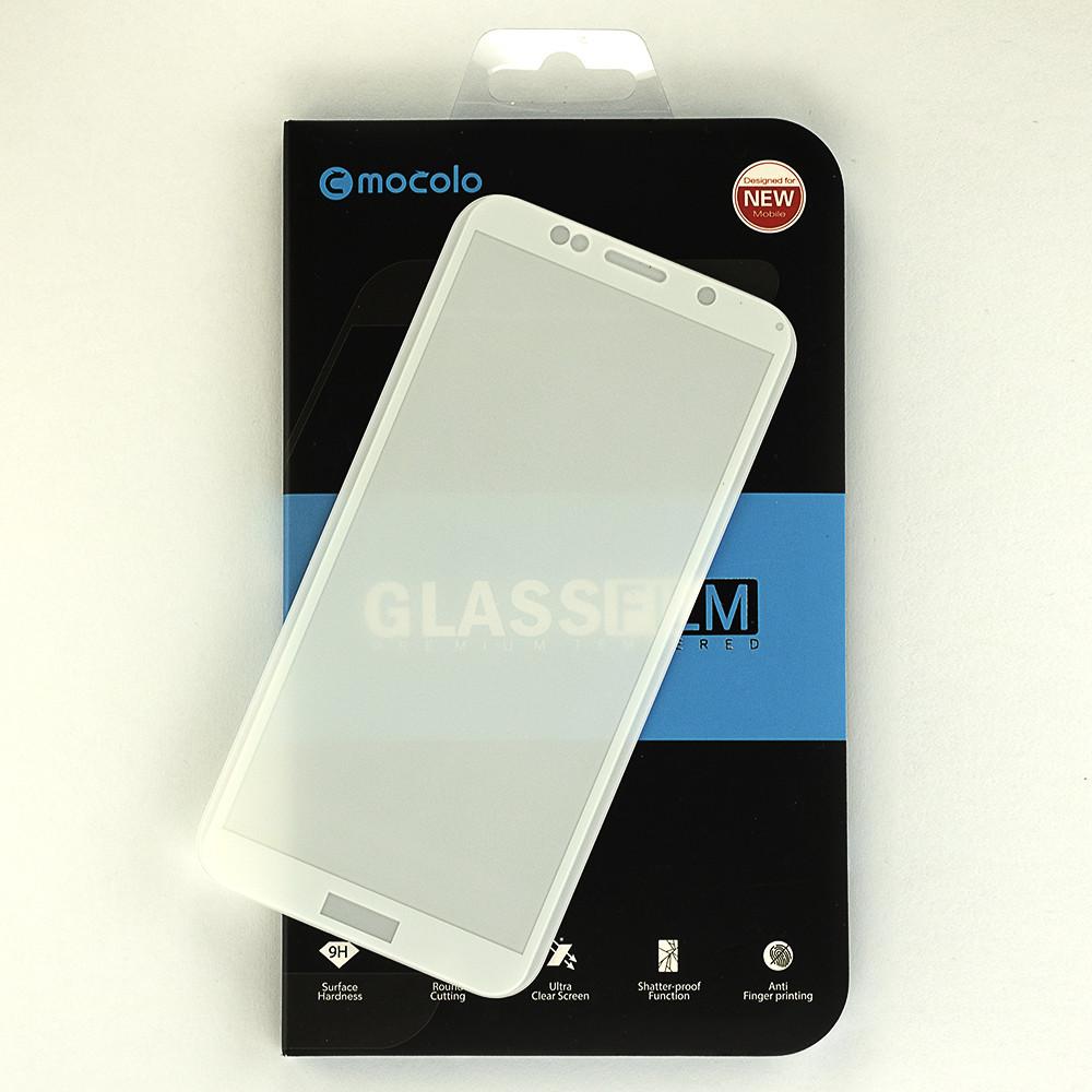 Захисне скло Mocolo 5D для Huawei Y5 2018 / Y5 Prime 2018 повноекранне біле