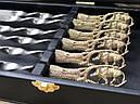 """Шампура подарочные с бронзовыми ручками """"Дикий кабан"""" в кейсе из эко-кожи, фото 2"""