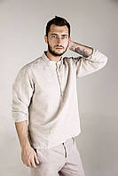 Рубашка классическая мужская из конопли. Конопляные мужские изделия. органическая одежда, фото 1