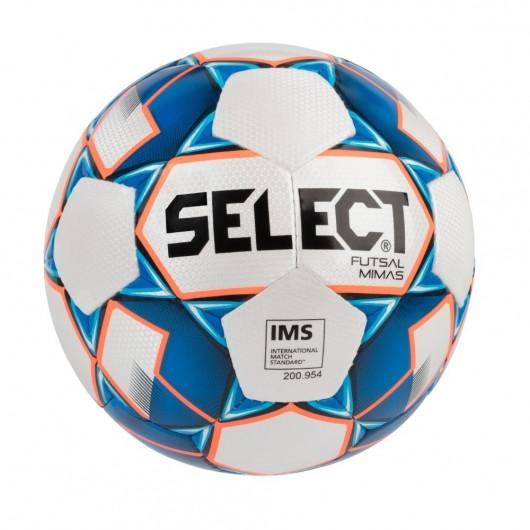 Мяч футзальный для мини-футбола и футзала SELECT Futsal Mimas (IMS), бело-синий, размер 4