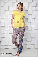 """Стильные брюки для беременных """"Daina"""", восточный орнамент"""