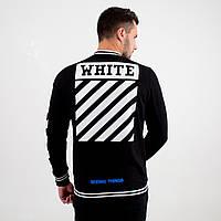 Бомбер мужской в стиле Off White полосы черный