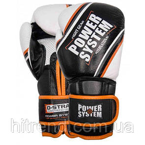 Перчатки для бокса PowerSystem PS 5006 Contender Black-Orange Line 14 oz - 145006