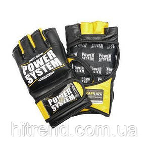 Перчатки для Мма Power System PS 5010 Katame Evo Black-Yellow L-XL R145212