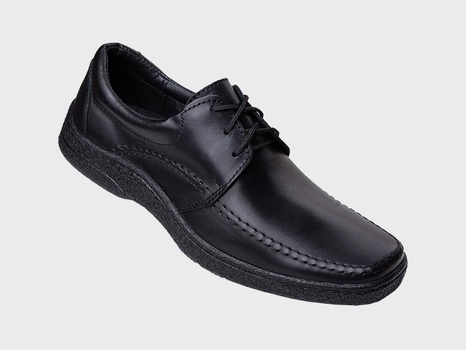 Туфли кожаные на широкую ногу на шнурках KONORS 5075-2-07-1  42