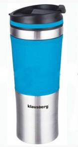 Термокружка Klausberg KB-7150 480мл Сріблясто-Синя - 143676