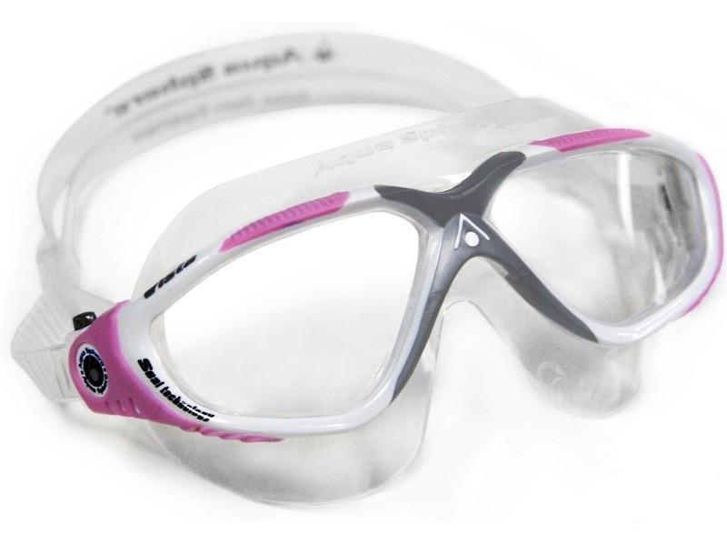 Очки-маска Aqua Sphere VISTA LADY (Бело-розовый, линзы прозрачные)