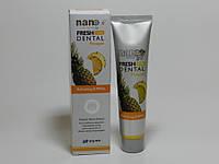 Зубные пасты серии Fresh Dental Nano с серебром и натуральными экстрактами фруктов , 160 г