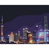 Картина по номерам Идейка - Ночной Шанхай 40x50 см (КНО3507)