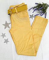 Брюки на девочку, размер 28, желтый , фото 1