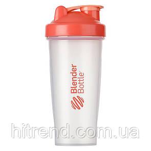 Шейкер спортивный BlenderBottle Classic 820ml Clear-Coral - 144944